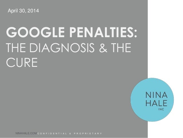 Google Penalties: The Diagnosis & The Cure