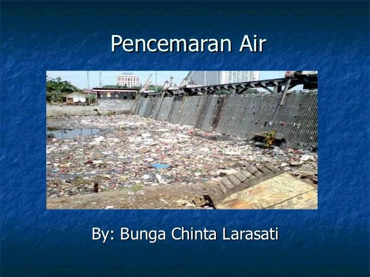 Pencemaran Air By: Bunga Chinta Larasati