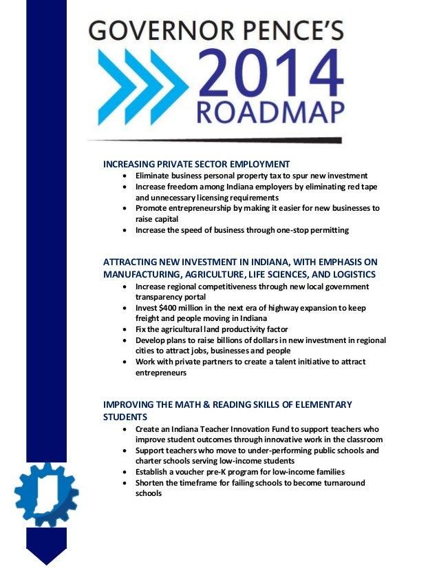 Mike Pence roadmap 2014