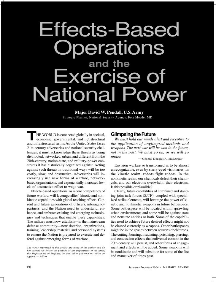 Pendall Ebo National Power