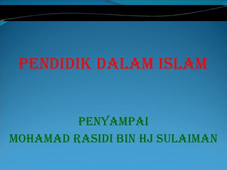 Pendidik Islam