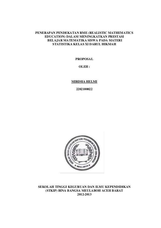 0  PENERAPAN PENDEKATAN RME (REALISTIC MATHEMATICS EDUCATION) DALAM MENINGKATKAN PRESTASI BELAJAR MATEMATIKA SISWA PADA MA...
