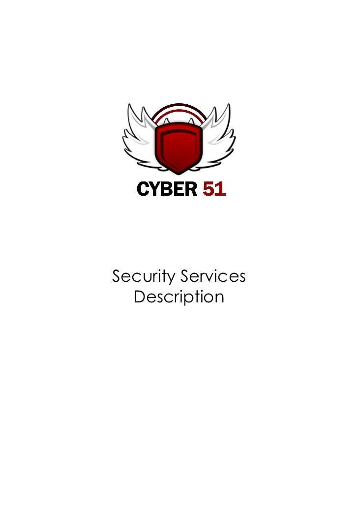 Security Services  Description