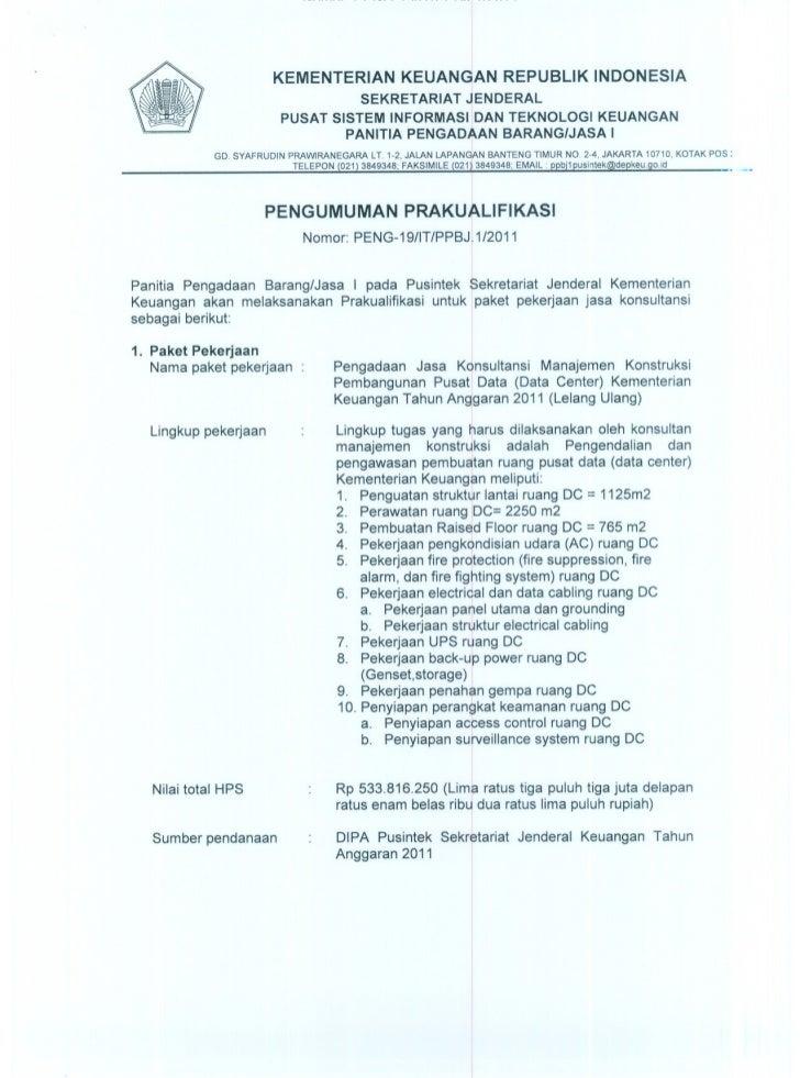 KEMENTERIAN KEUANGAN REPUBLIK INDONESIA                                       SEKRETARIAT JENDERAL                        ...