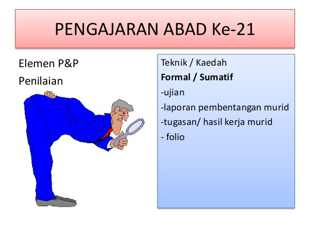 PENGAJARAN ABAD KE-21 • Elemen P&P 5. Kesimpulan / Penutup Teknik / Kaedah - Mencari maklumbalas objektif pengajaran - Mer...
