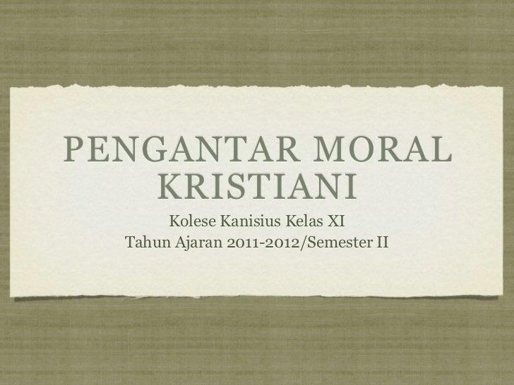 Pengantar moral kristiani copy