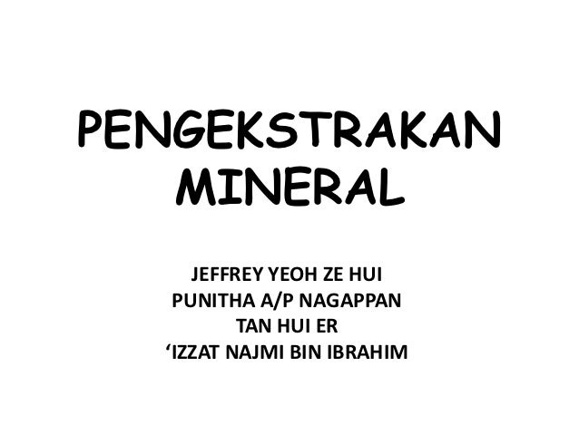 Pengekstrakan mineral