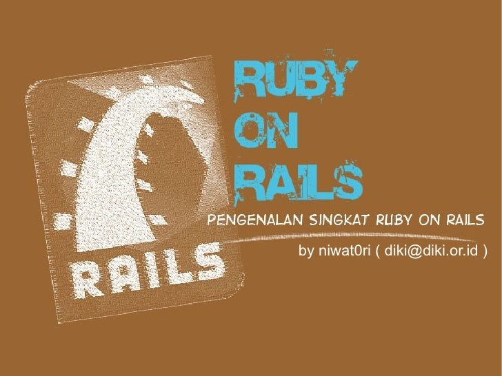 Introduction to Ruby on Rails