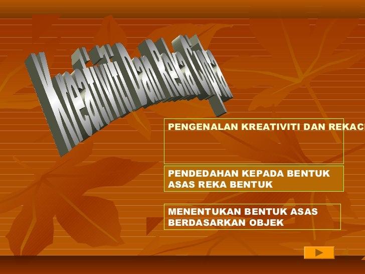 Pengenalan kreativiti dan rekacipta thn4