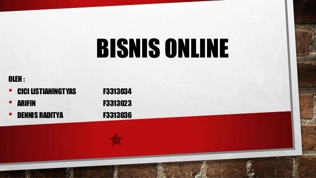 Pengertian dan definisi bisnis online