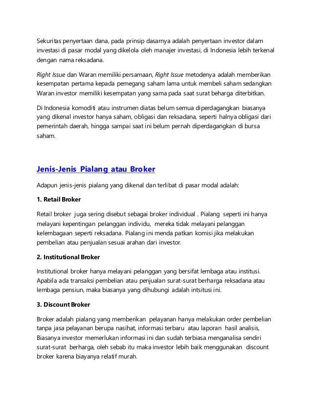 pengertian pasar modal Pengertian pasar uang dan pasar modal, pasar-modal html diakses tanggal 1 juni 2015 posted by.