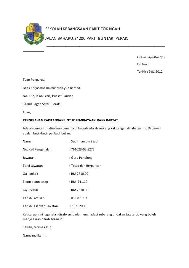 Contoh Surat Rasmi Pengesahan Kuvelu Tetseo