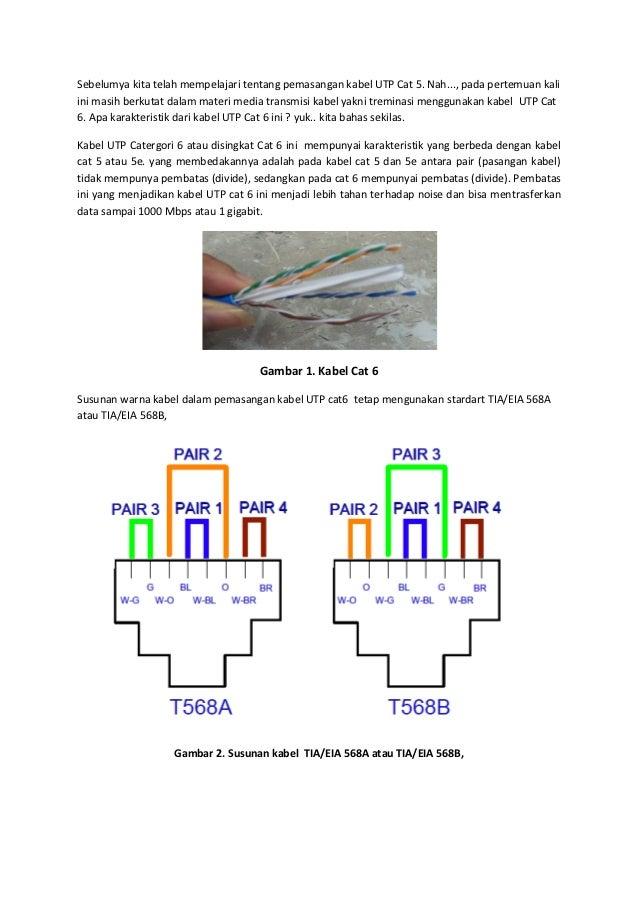 Penggabelan menggunakan UTP cat-6