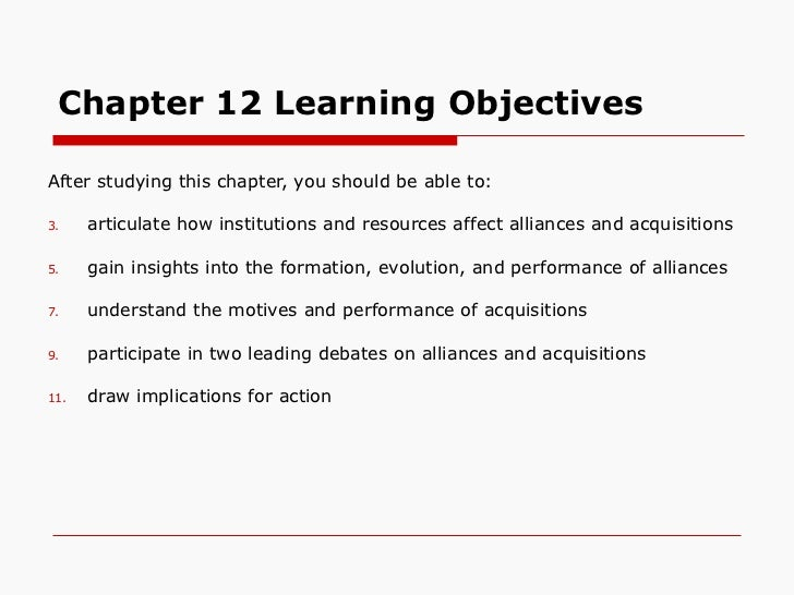 Chapter 12 Learning Objectives <ul><li>After studying this chapter, you should be able to: </li></ul><ul><li>articulate ho...