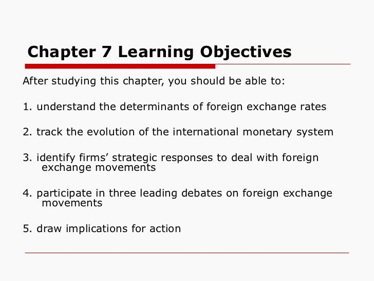 Chapter 7 Learning Objectives <ul><li>After studying this chapter, you should be able to: </li></ul><ul><li>1. understand ...