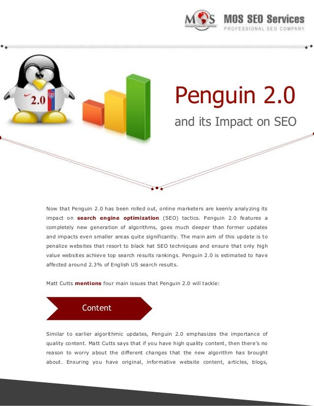 Penguin 2.0 and its Impact on SEO