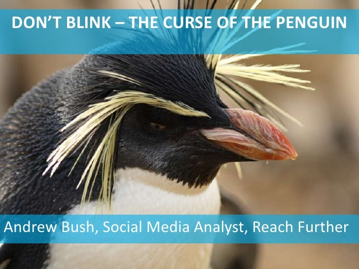 DON'T BLINK – THE CURSE OF THE PENGUINAndrew Bush, Social Media Analyst, Reach Further