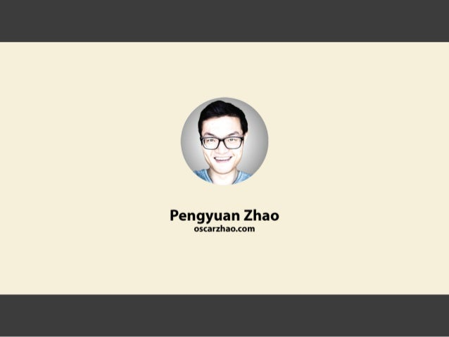 Pengyuan zhao's visual resume - your best HR solution