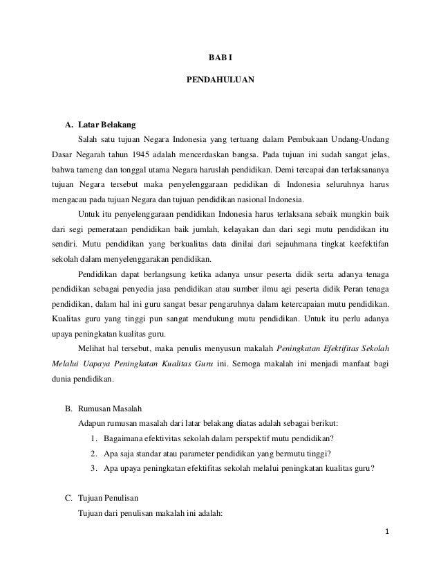 1 BAB I PENDAHULUAN A. Latar Belakang Salah satu tujuan Negara Indonesia yang tertuang dalam Pembukaan Undang-Undang Dasar...