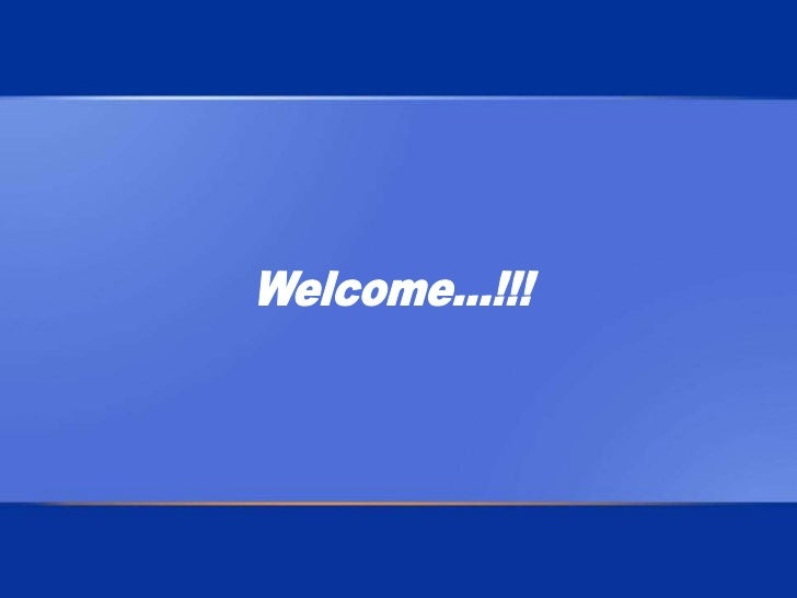 Welcome...!!!<br />