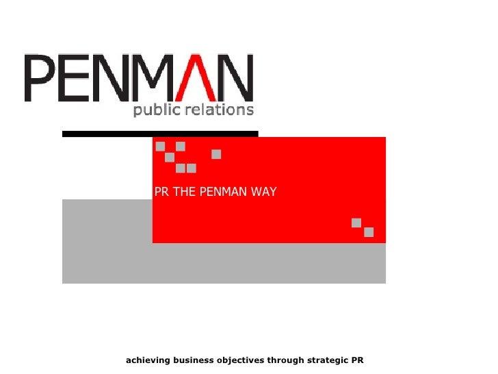 Penman - Our PR Process