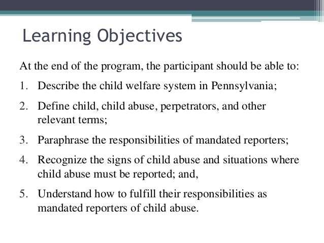 What are the first 3 offenses to child abuse?