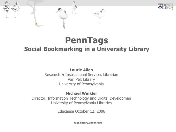 Laurie Allen Research & Instructional Services Librarian Van Pelt Library University of Pennsylvania Michael Winkler Direc...