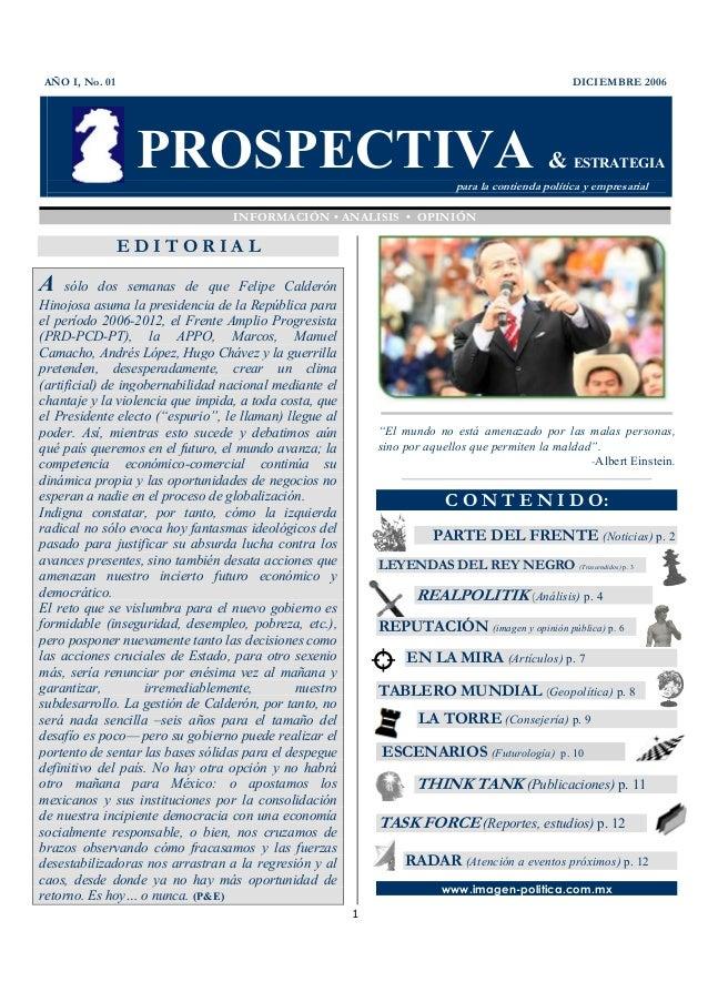 Revista Prospectiva & Estrategia, diciembre 2006