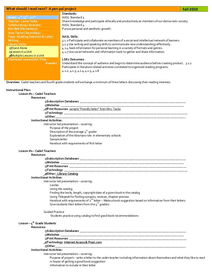 Elementary Instructional Unit Plan