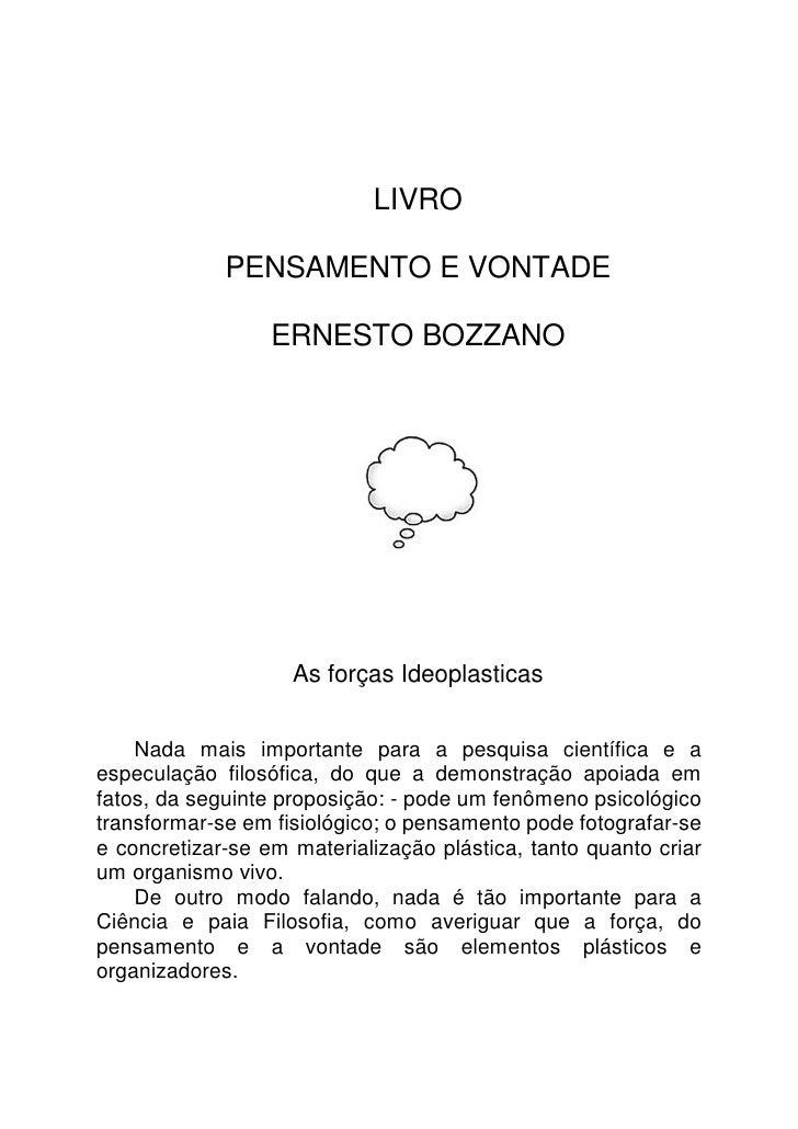 WWW.AUTORESESPIRITASCLASSICOS.COM                                 LIVRO               PENSAMENTO E VONTADE                ...