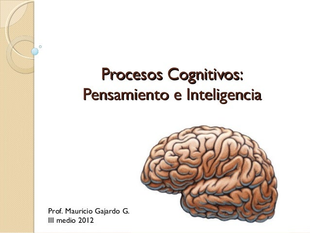 Procesos Cognitivos:Procesos Cognitivos:Pensamiento e InteligenciaPensamiento e InteligenciaProf. Mauricio Gajardo G.III m...