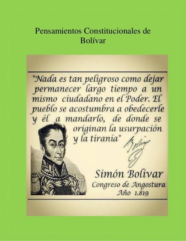 pensamientos de simon bolivar pdf