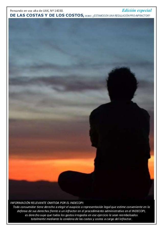 Pensando en voz alta de UAK, Nº 14030. Edición especial DE LAS COSTAS Y DE LOS COSTOS, acaso: ¿ESTAMOS EN UNA REGULACIÓN P...