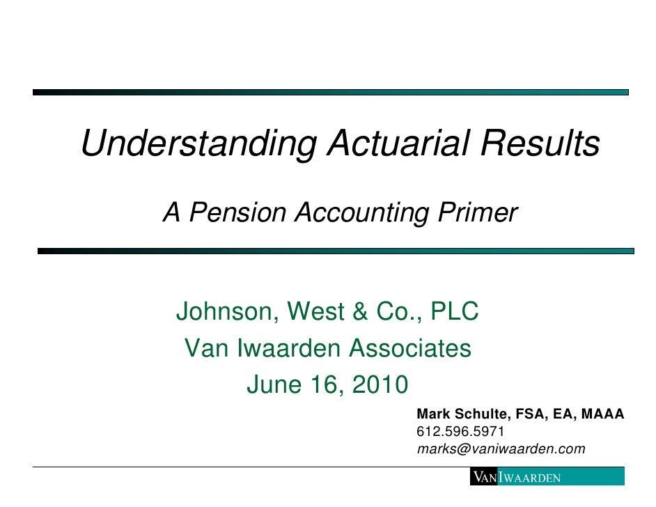 Pension accounting primer