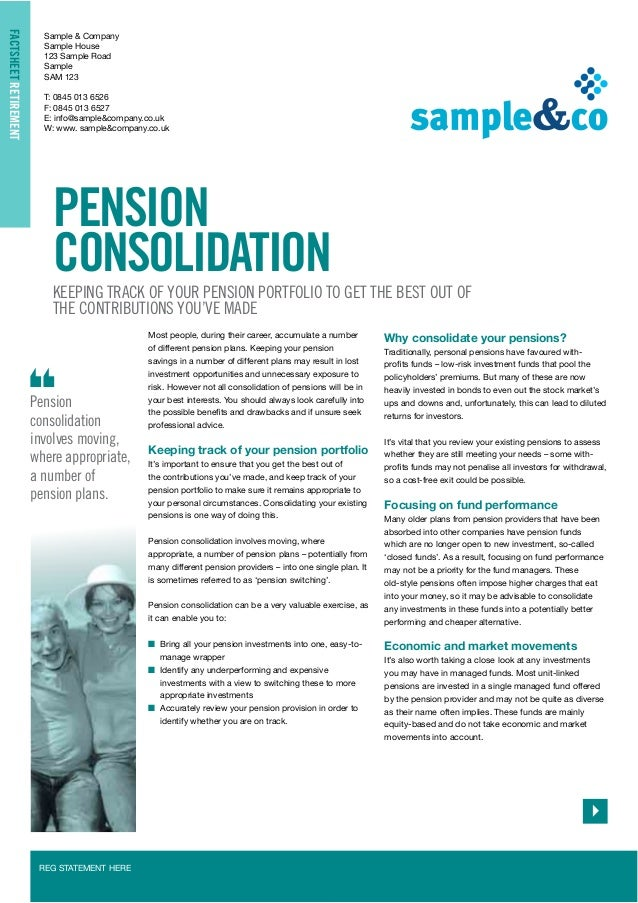 Pension consolidation a  2013/14
