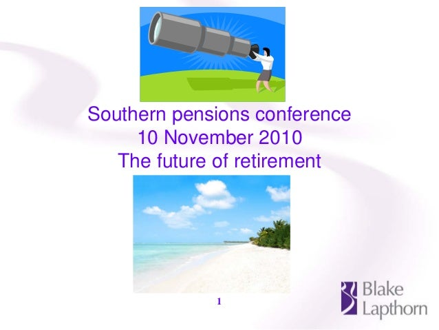 Pensions pensions conference slides