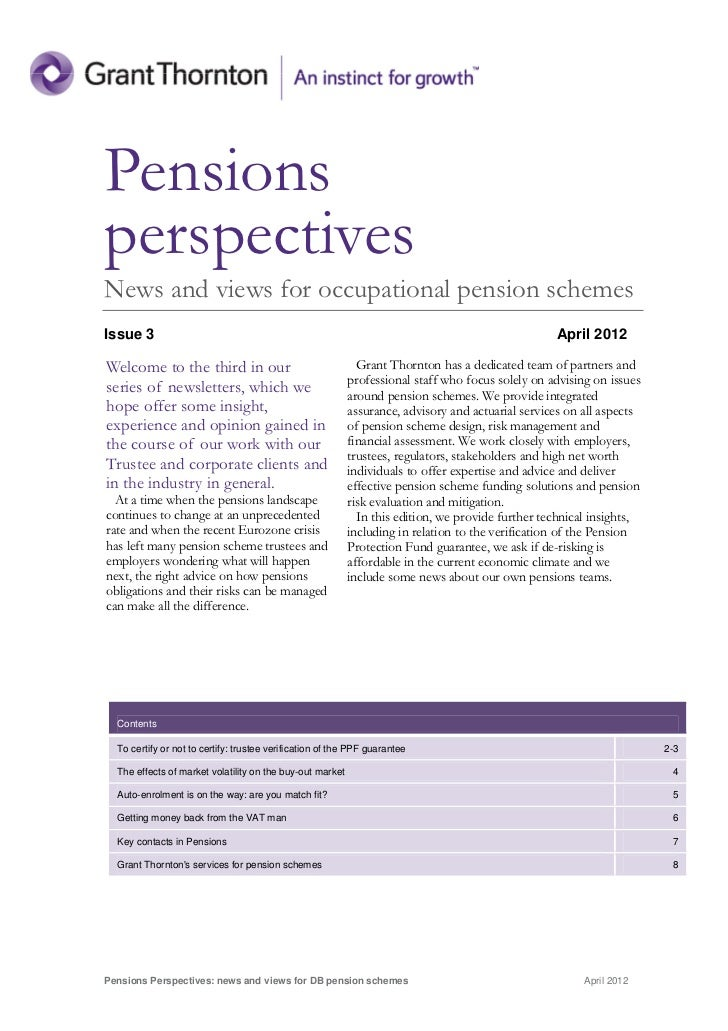 PensionsperspectivesNews and views for occupational pension schemesIssue 3                                                ...