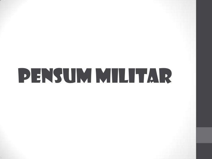 PENSUM MILITAR