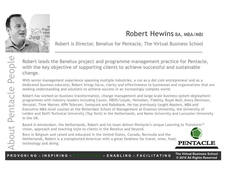 Pentacle Bio, Robert Hewins