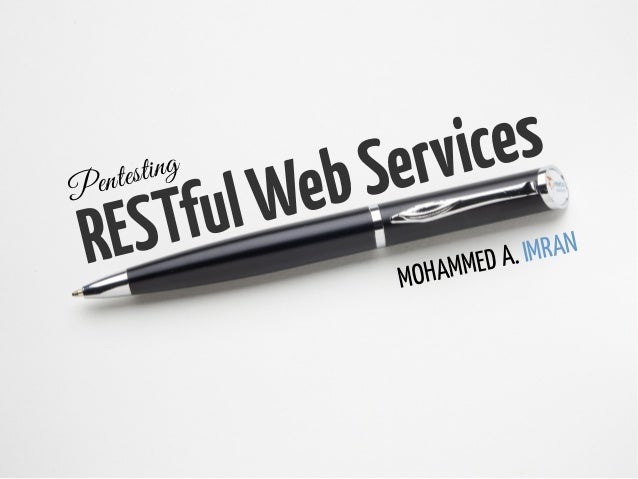 Pentesting RESTful WebServices v1.0