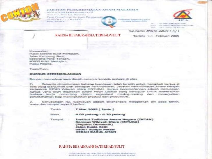 Contoh Surat Rasmi Kepada Ketua Menteri Sabah Surasm