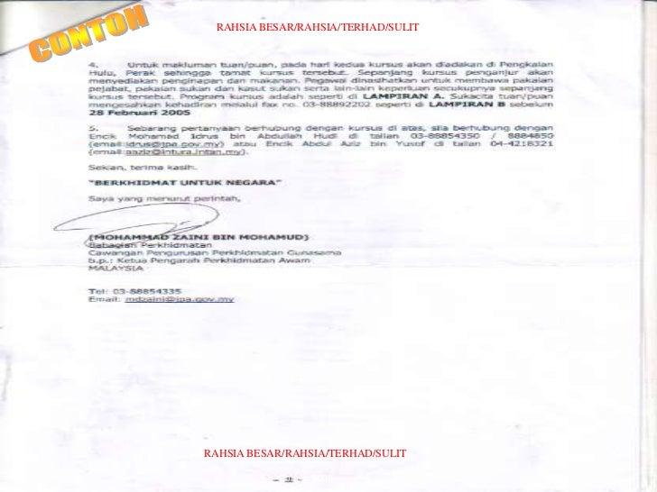Format Surat Rasmi Bagi Pihak Surat Dd