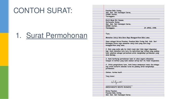 Contoh surat 1 surat permohonan 7 contoh surat 2 surat