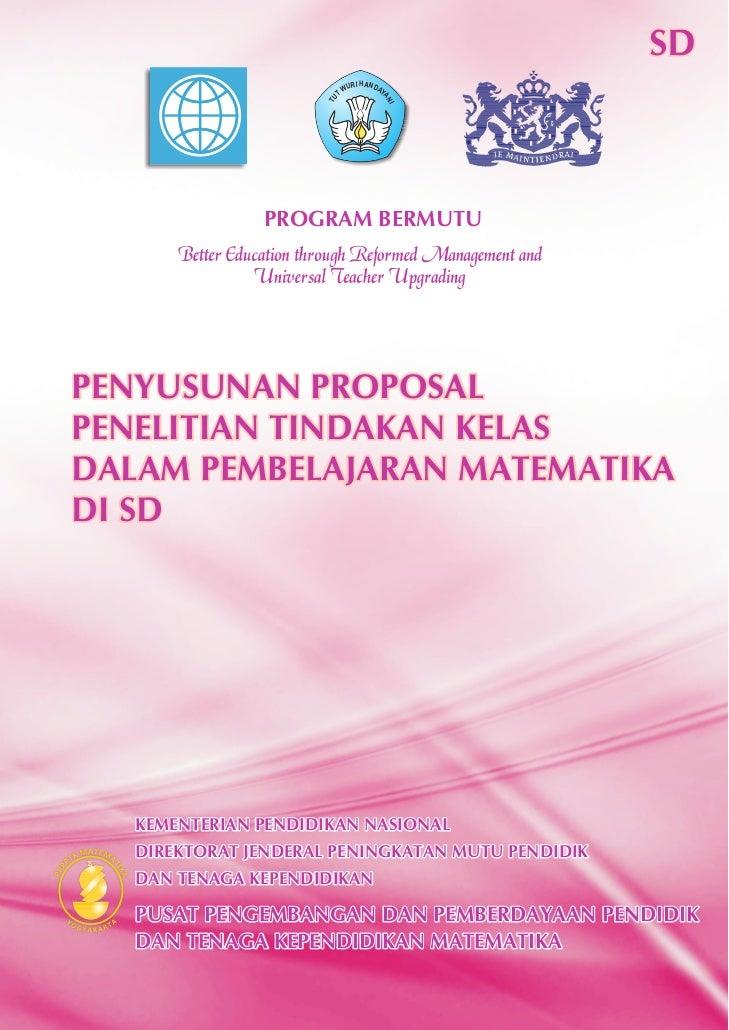 ... Proposal Penelitian Tindakan Kelas Dalam Pembelajaran Matematika di SD