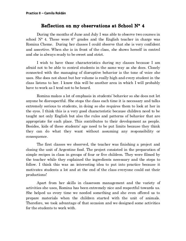 observation essay example