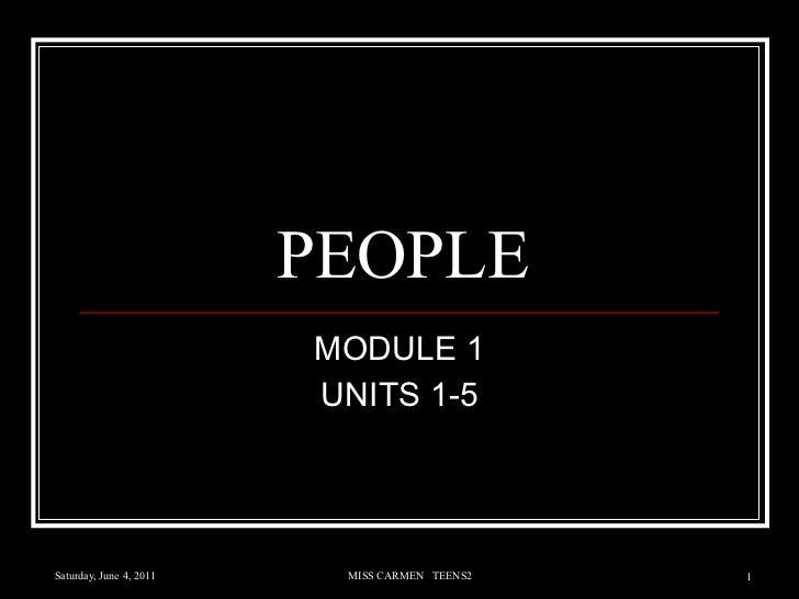 PEOPLE MODULE 1 UNITS 1-5