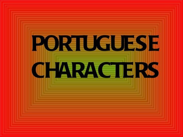 PORTUGUESECHARACTERS