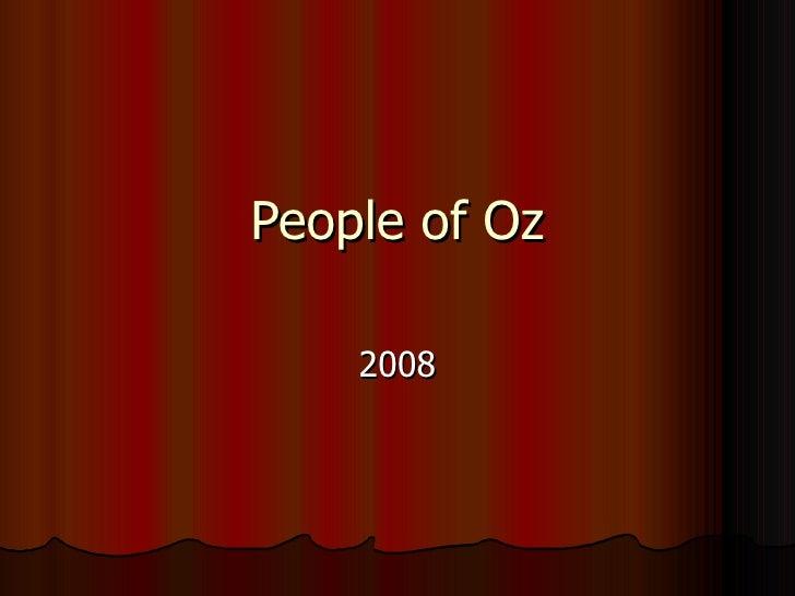 People of Oz 2008