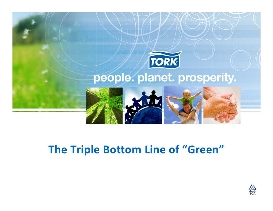 Going Green: people and planet will lead to prosperity
