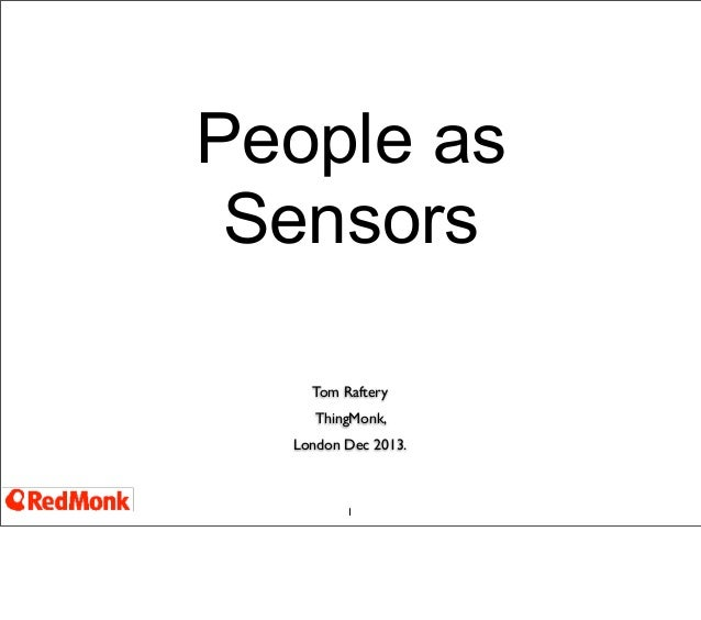 People as sensors - mining social media for meaningful information